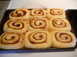 Rolls after 2nd rise, doubled in size!