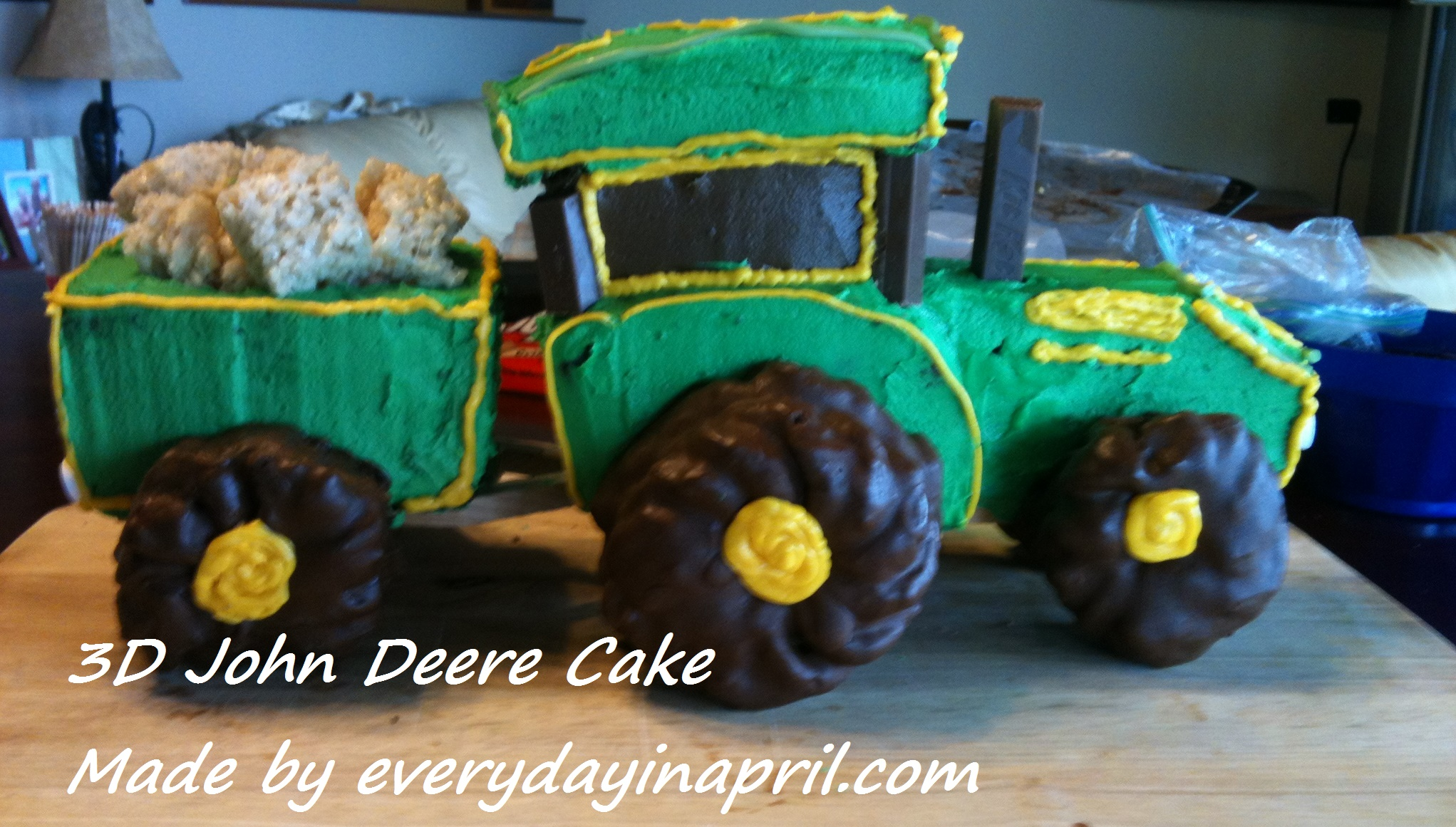 Take You For A Ride On My Big Green Tractor Cake Every Day In
